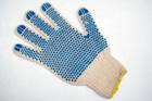 Перчатки плетеные серые с двусторонним вкраплением