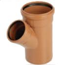 Тройник канализационный 160x110 мм 45°/90° наружный