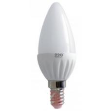 Лампа светодиодная LED свеча 6W 220B E14 4100K