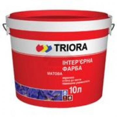 Интерьерная стойкая к мытью матовая краска TRIORA матовая, 10 л