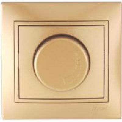 Диммер 500 Вт с фильтром и предохранителем Lezard Mira металик золото