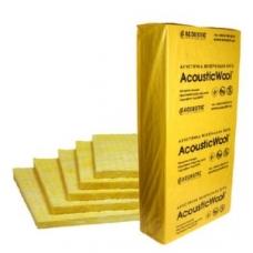 Минеральная вата AcousticWool Floor, звукоизолирующая плита (20*600*1000 мм), 120 кг/м3 (6м2) (уп)