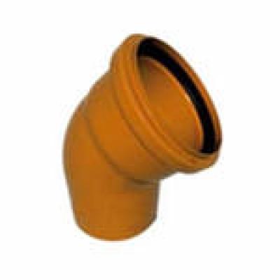 Колено канализационное 160 мм 67° наружное