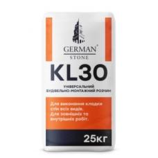 Суміш для мурування стін GERMAN STONE KL-30 25 кг