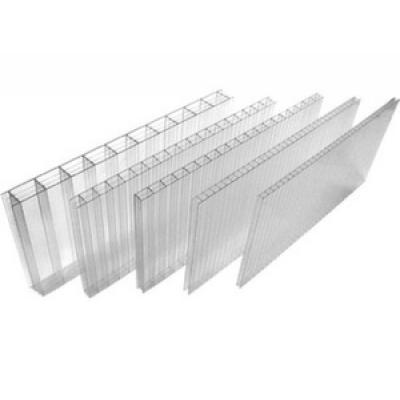 Сотовый поликарбонат 2,10 х 6,0 толщина 20мм, прозрачный (лист.)