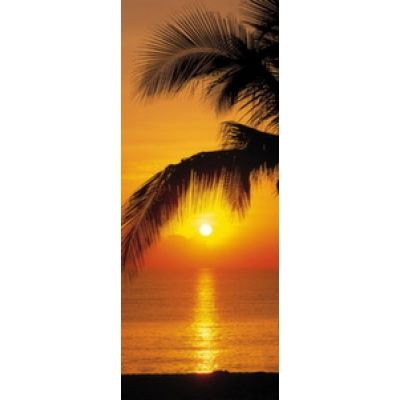 Фотообои Komar Doors Palmy Beach Sunrise