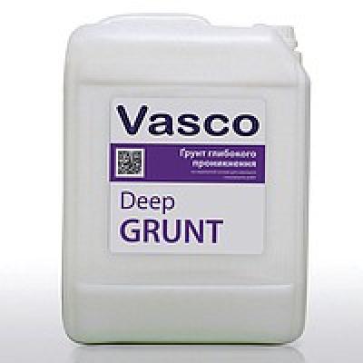 Водоразбавляемый грунт глубокого проникновения на акрилатной основе для наружных и внутренних работ Vasco Deep Grunt (10л)