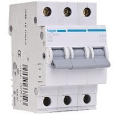 Автоматический выключатель HAGER In=16 А, 3п, С, 6 kA, 3м