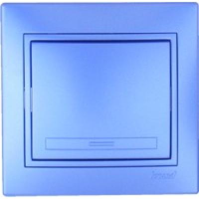 Выключатель  Lezard Одинарный металлик синий