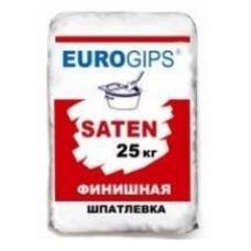 Беспещанка чистовая EUROGIPS SATEN (Сатенгипс) 25 кг
