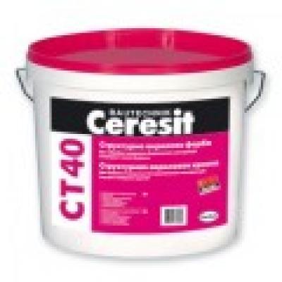 Структурная акриловая краска Ceresit CT 40 (10 л)