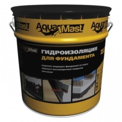 Гидроизоляция для фундаментов битумная AquaMast (18 кг)