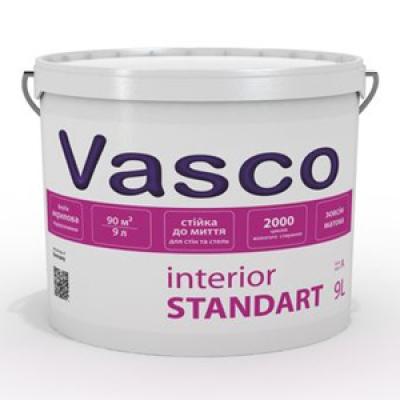 Водоразбавляемая акриловая краска для интерьеров Vasco Interior Standart (9л)