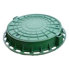 Люк садовый пластмассовый легкий №2 (зеленый) с замком