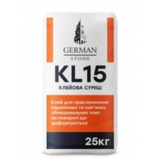 Клей для плитки GERMAN STONE KL-15 25 кг (Грес)