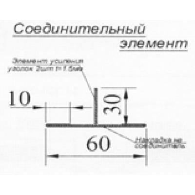 Соединительный элемент (накладка) (нержавейка) (м.п.)