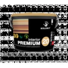 Латексная краска для внутренних работ Kolorit Interior Premium 20