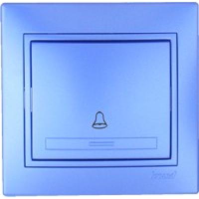 Кнопка звонка Lezard металлик синий