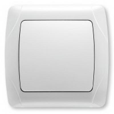 Выключатель 1-но клавишный Viko CARMEN (белый)