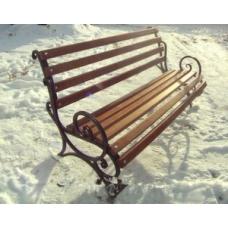 скамейка длина 100 см, с перилами, балок 10