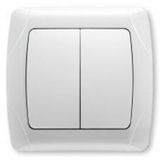 Выключатель 2-клавишный Viko CARMEN (белый)