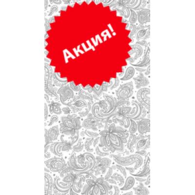 Вагонка ПВХ 250 мм х3м  х 8 мм декор Кружево серебро (м2)