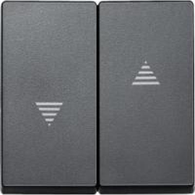 Клавиша выключателя для жалюзи графит (шт.)