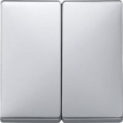Клавиша выключателя двухклавишного алюминий матовый (шт.)