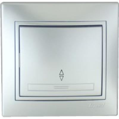 Выключатель проходной Lezard металик серый
