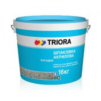 Фасадная шпатлевка TRIORA, 16 кг