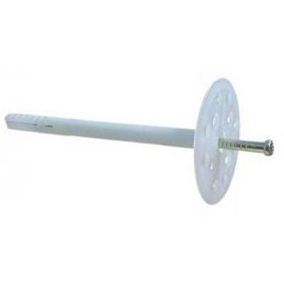 Дюбель зонт 10х180 с металлическим стержнем (50 шт/уп)