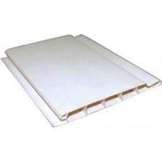 Вагонка пластиковая Белая усиленая 12,5х600 (м2)