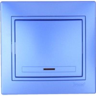 Выключатель с подсветкой Lezard металик синий