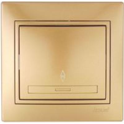 Выключатель проходной Lezard металлик золото