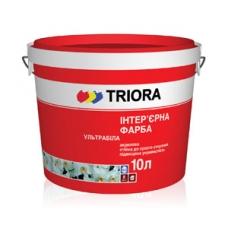 Интерьерная акриловая ультрабелая краска TRIORA Ультрабелая, 10 л