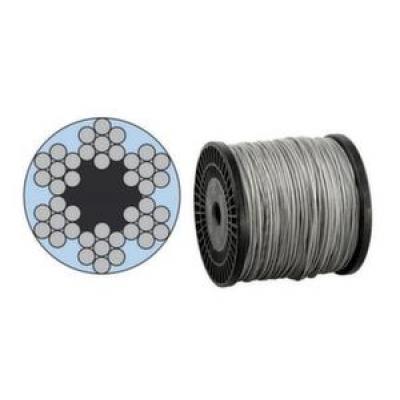 Трос стальной в оплетке 5мм 6x7+1FC (м.п.)
