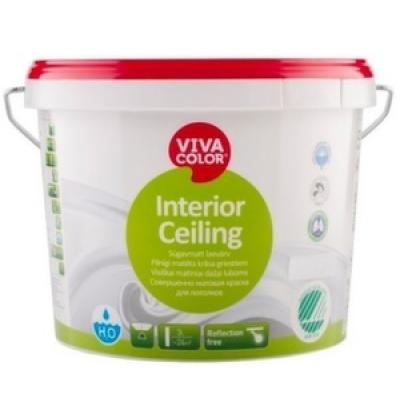 Глубоко матовая не отражающая краска для потолков Interior Ceiling (9 л)