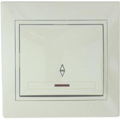 Выключатель проходной с подсветкой Lezard кремовый
