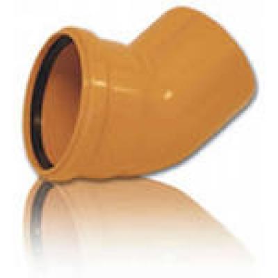 Колено канализационное 200 мм 30° наружное