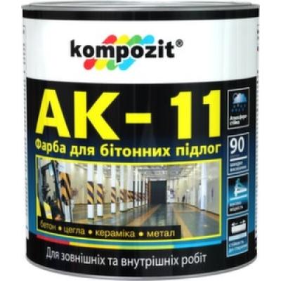 Краска для бетонных полов Komposit АК-11 Серая (10 кг)