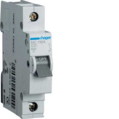 Автоматический выключатель HAGER In=16 А, 1п, С, 6 kA, 1м
