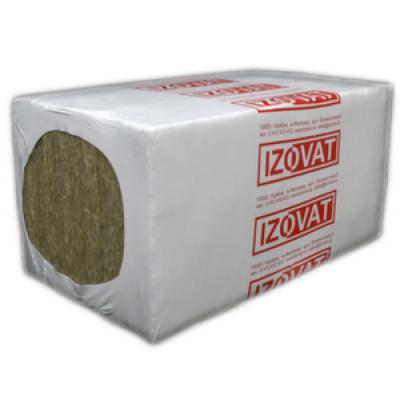 Базальтовый утеплитель Izovat 45 Изоват 45 кг/м.куб., 50/100х600х1000 мм (6 м.кв/ 3 м.кв)