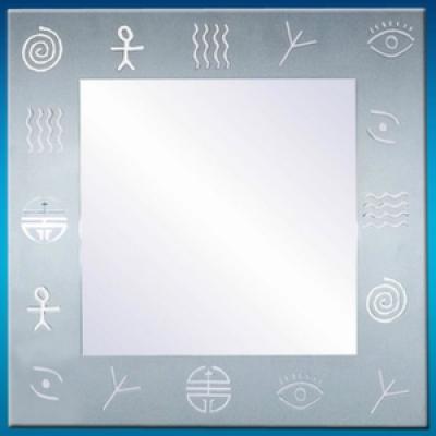 Зеркало 172 с пескоструйным узором