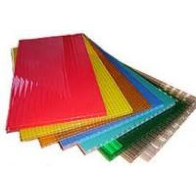 Сотовый поликарбонат 1,05 х 2,0 толщина 4мм, цветной (лист.)