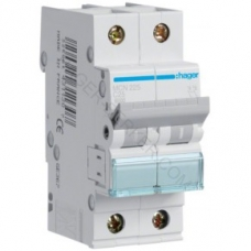 Автоматический выключатель HAGER In=25 А, 2п, С, 6 kA, 2м