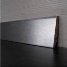 Плинтус алюминиевый MDF ED60L (серебро)