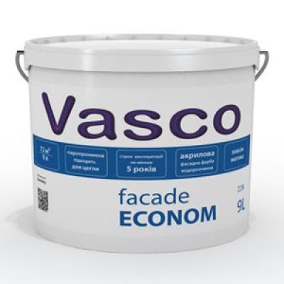 Водоразбавляемая акриловая фасадная краска Vasco Facade Econom (2,7л)