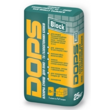 Клей для газоблока Полипласт DOPS (Поліпласт) 25кг