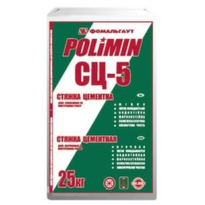 Стяжка цементная стандартная Polimin СЦ-5 (25 кг)