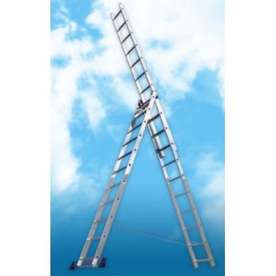Алюминиевая трехсекционная лестница (3.36м)